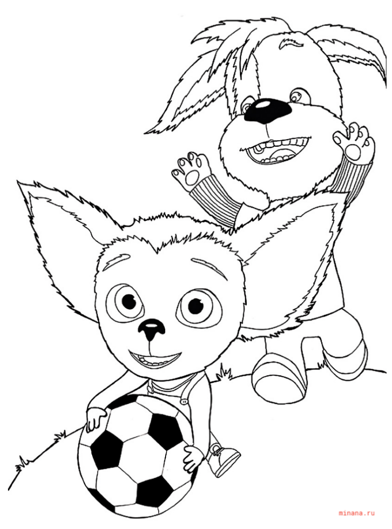 Раскраска Малыш с Дружком