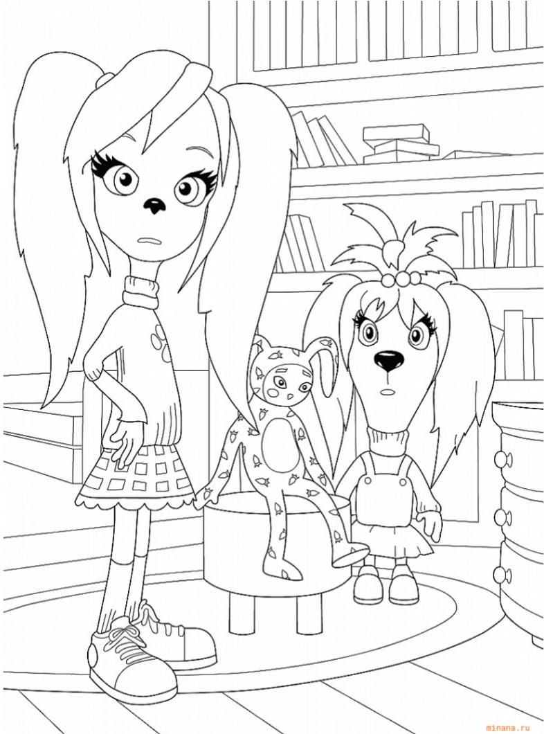 Раскраска Роза и Лиза