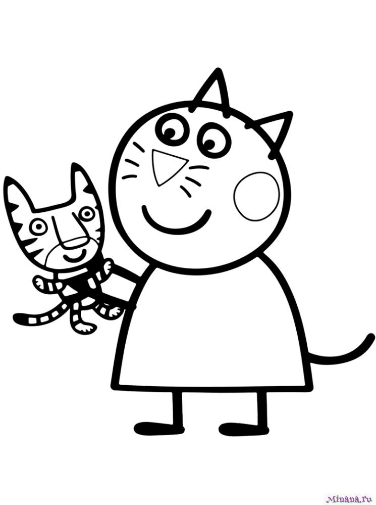 Раскраска Кошка Кэнди | Minana.ru