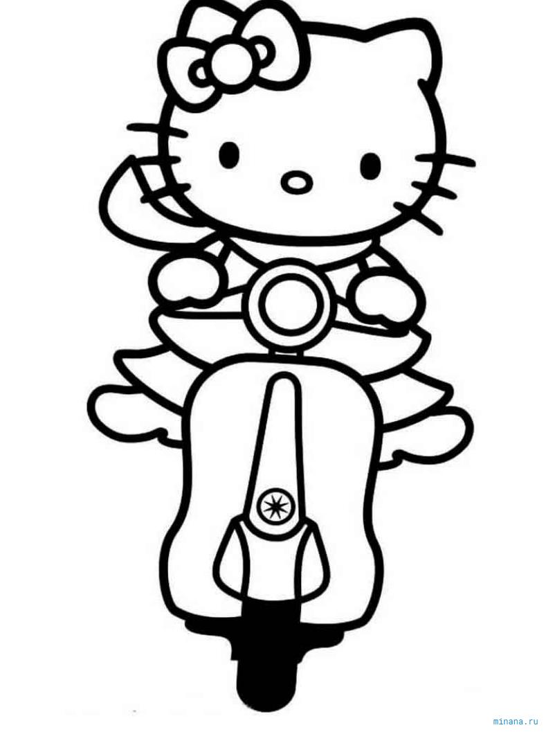 раскраски хелло китти Hello Kitty Minana Ru
