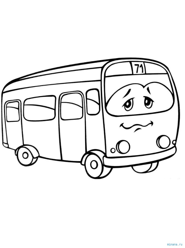Раскраска автобус 2