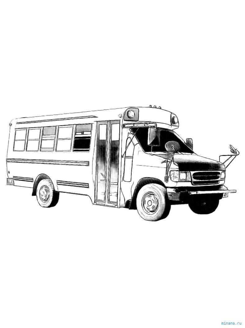 Раскраска автобус 3
