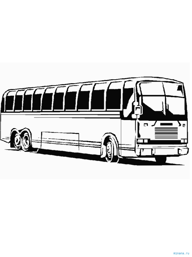Раскраска автобус 4   Minana.ru