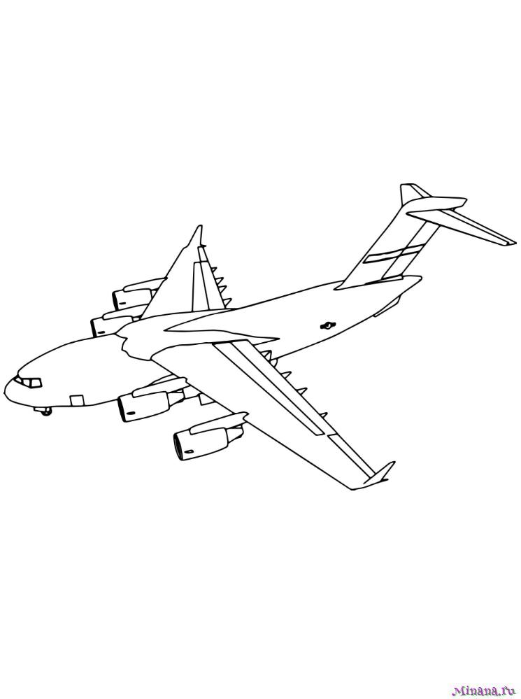 раскраски самолеты Minana Ru