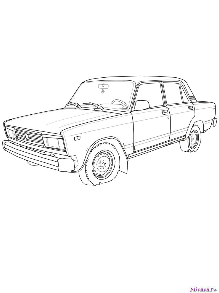 Раскраска ВАЗ 2105