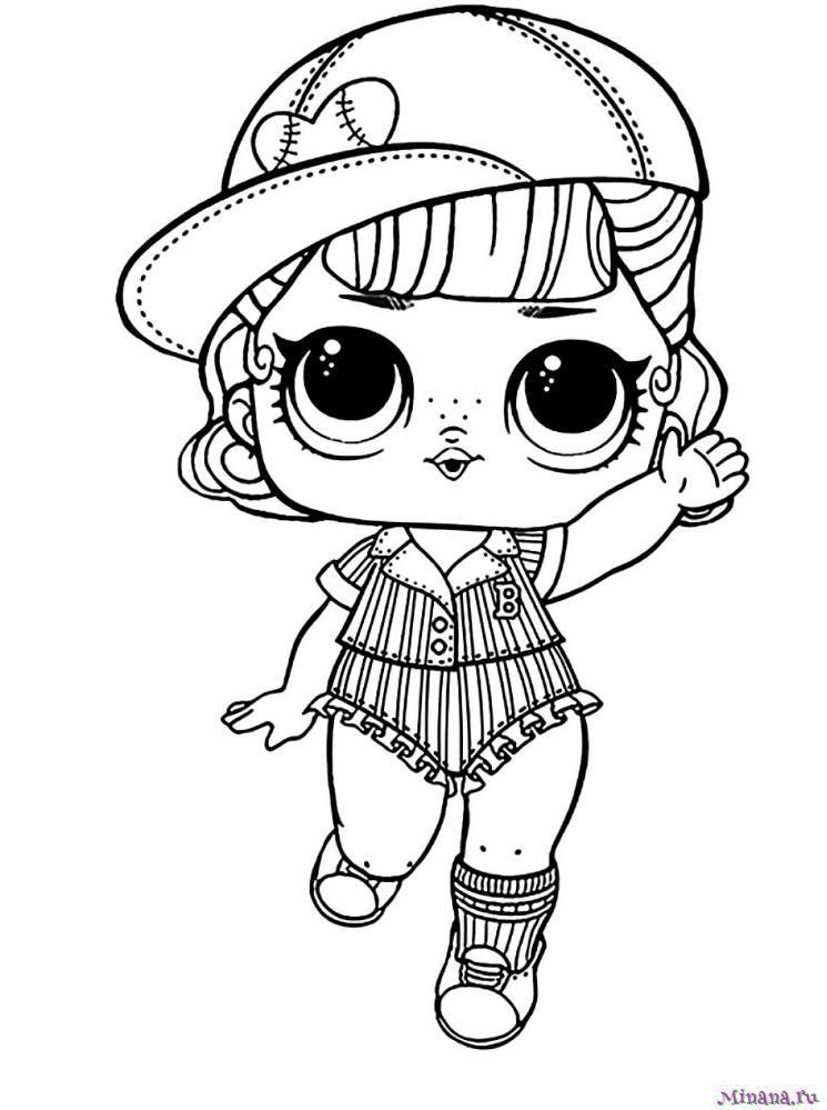 Раскраска Кукла ЛОЛ 3 | Minana.ru