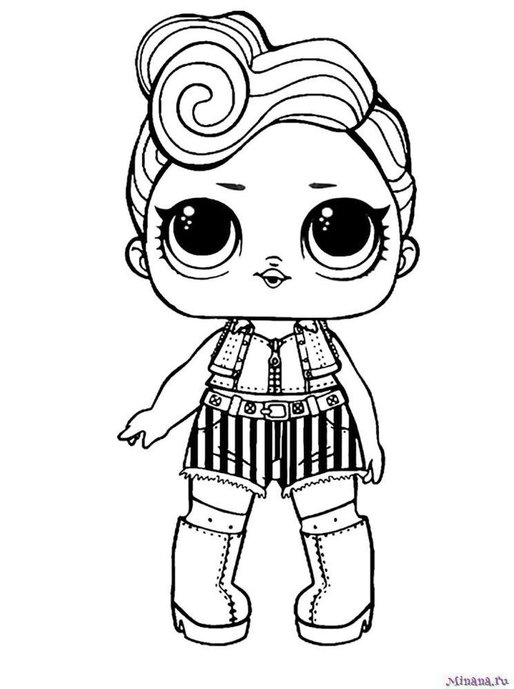 Раскраска Кукла ЛОЛ 4