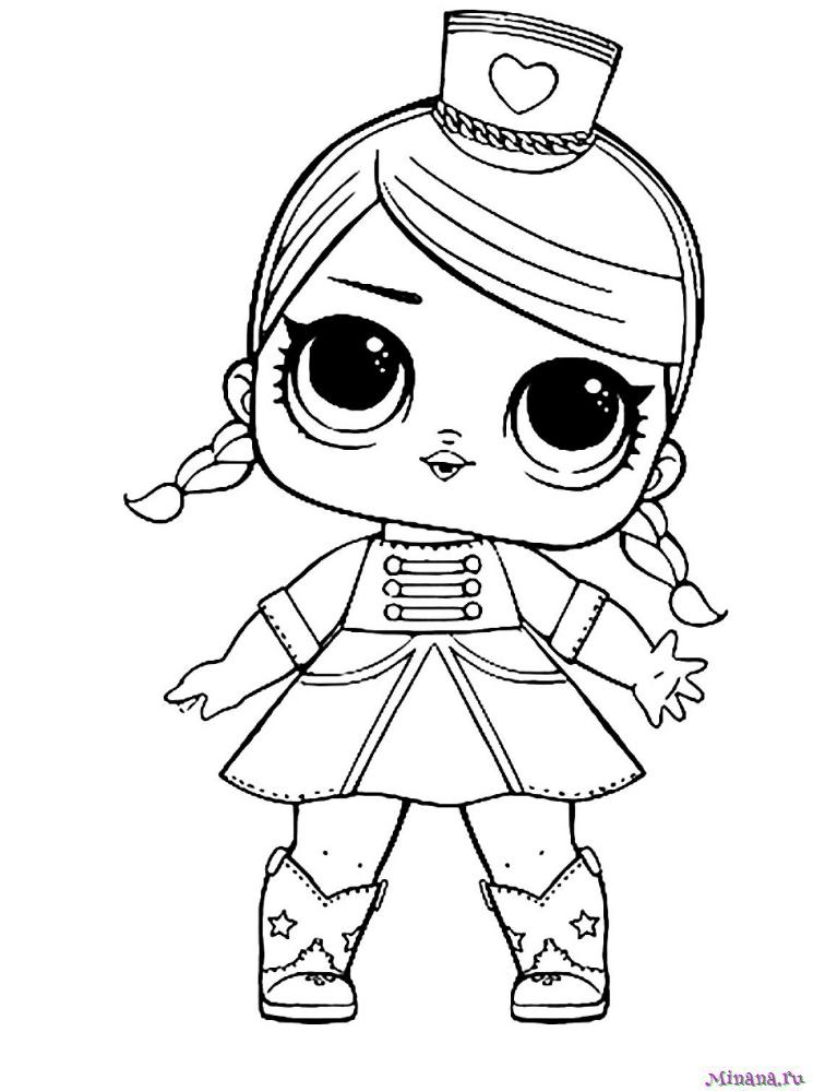 Раскраски Куклы Лол | Minana.ru