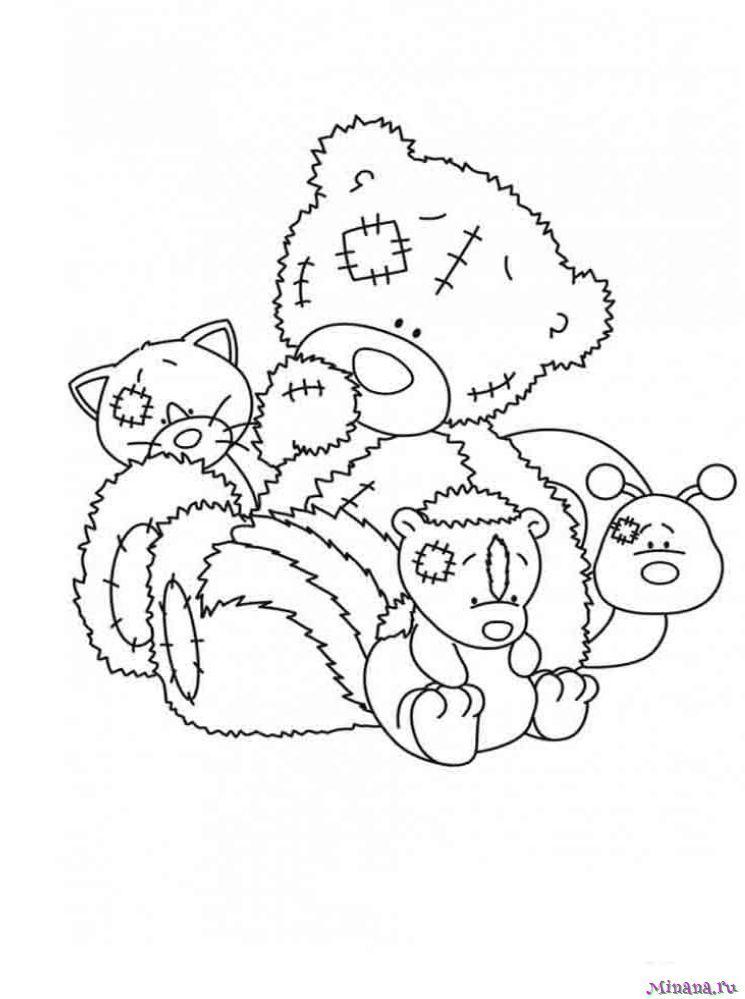 Раскраска Мишка Тедди 1