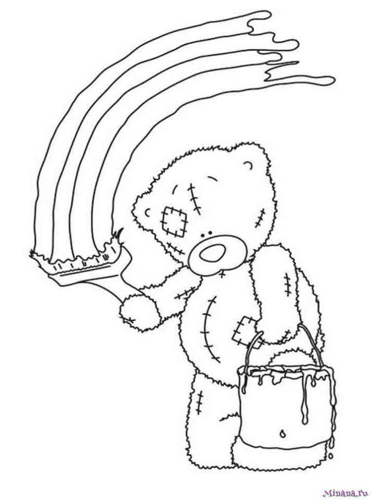 Раскраска Мишка Тедди 5