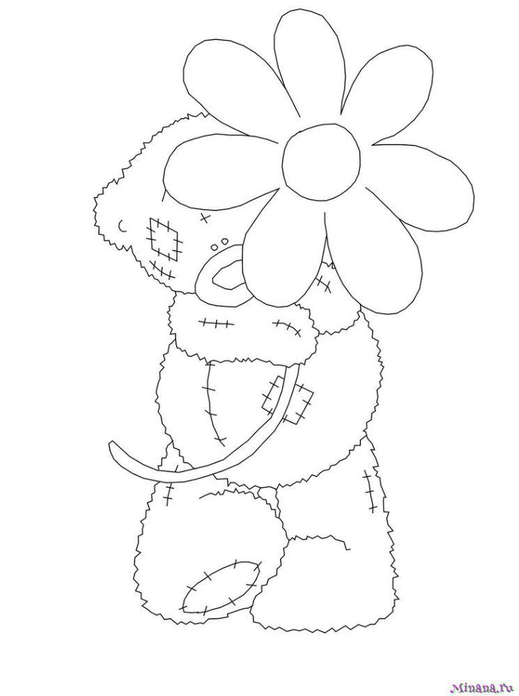 Раскраска Мишка Тедди 7