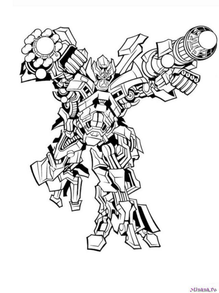 Раскраска Робот
