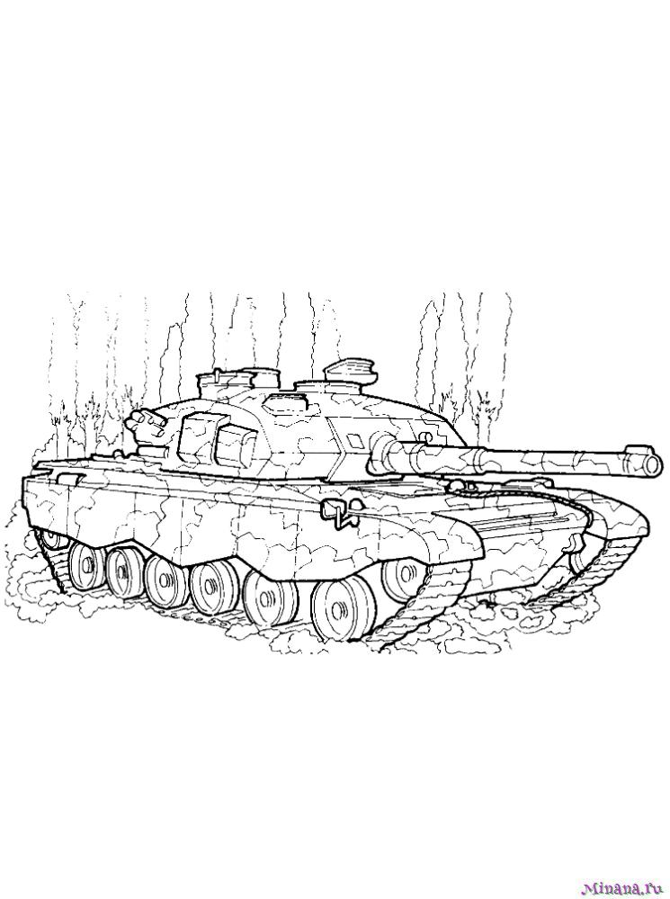 Раскраска Танк ЕЕ-T1