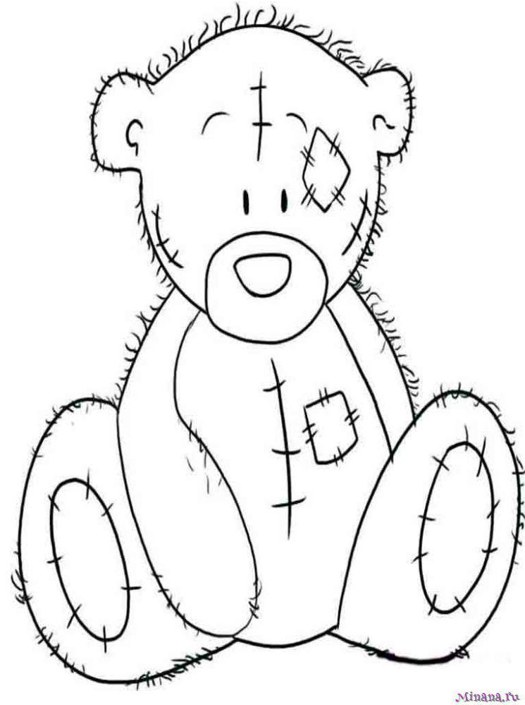 Раскраска Тедди