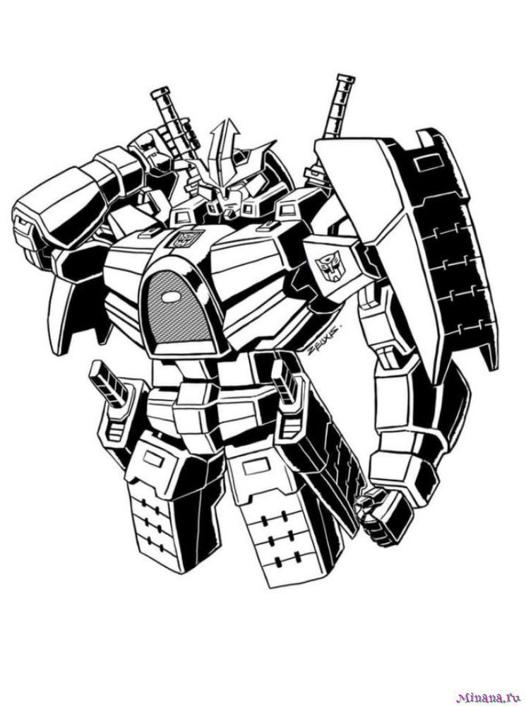 Раскраска Трансформер 2