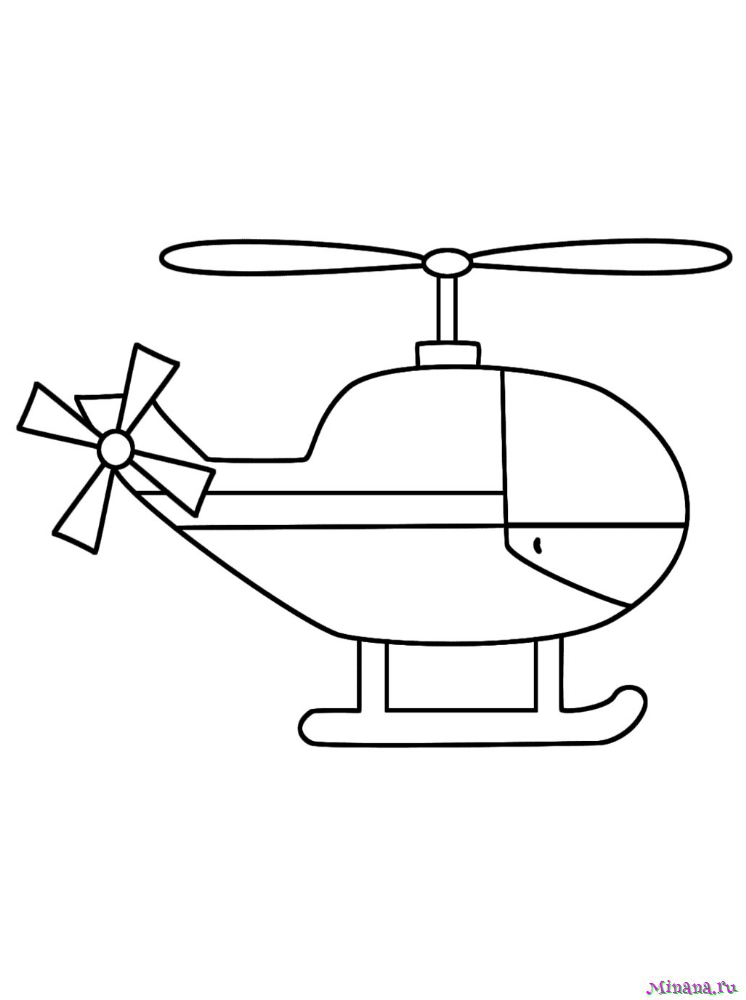 Раскраска вертолет 10