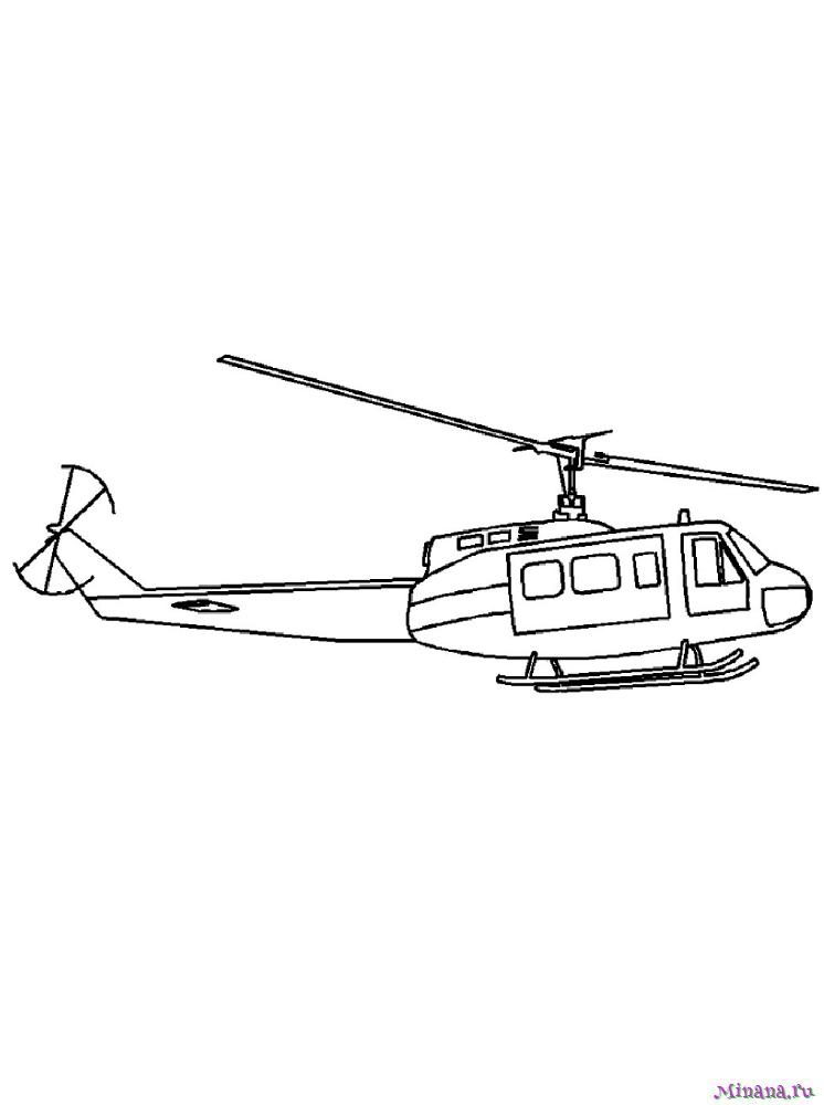 Раскраска вертолет 5