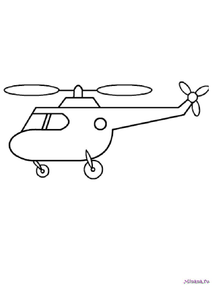 Раскраска вертолет 8