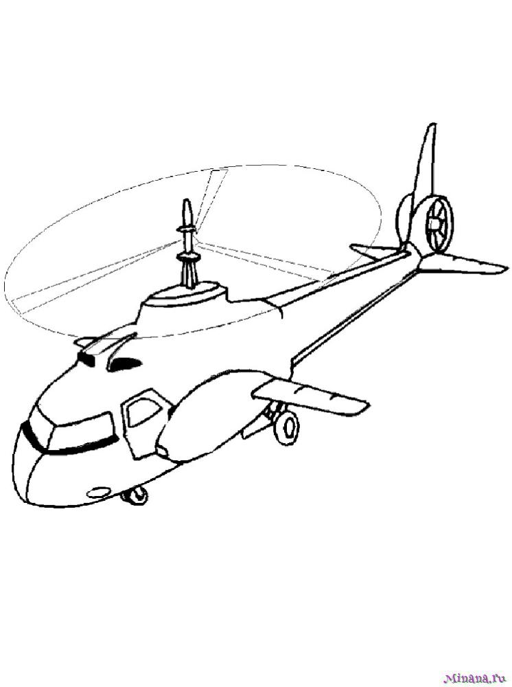 Раскраска вертолет 9