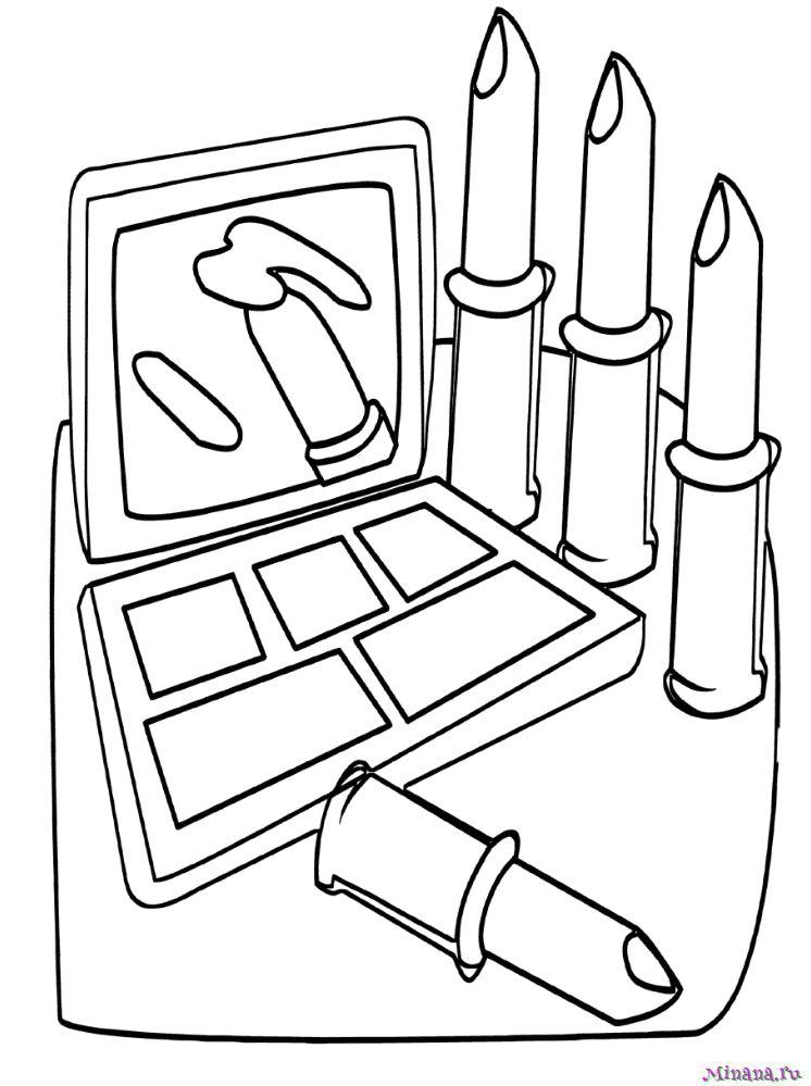 Раскраска косметика 6