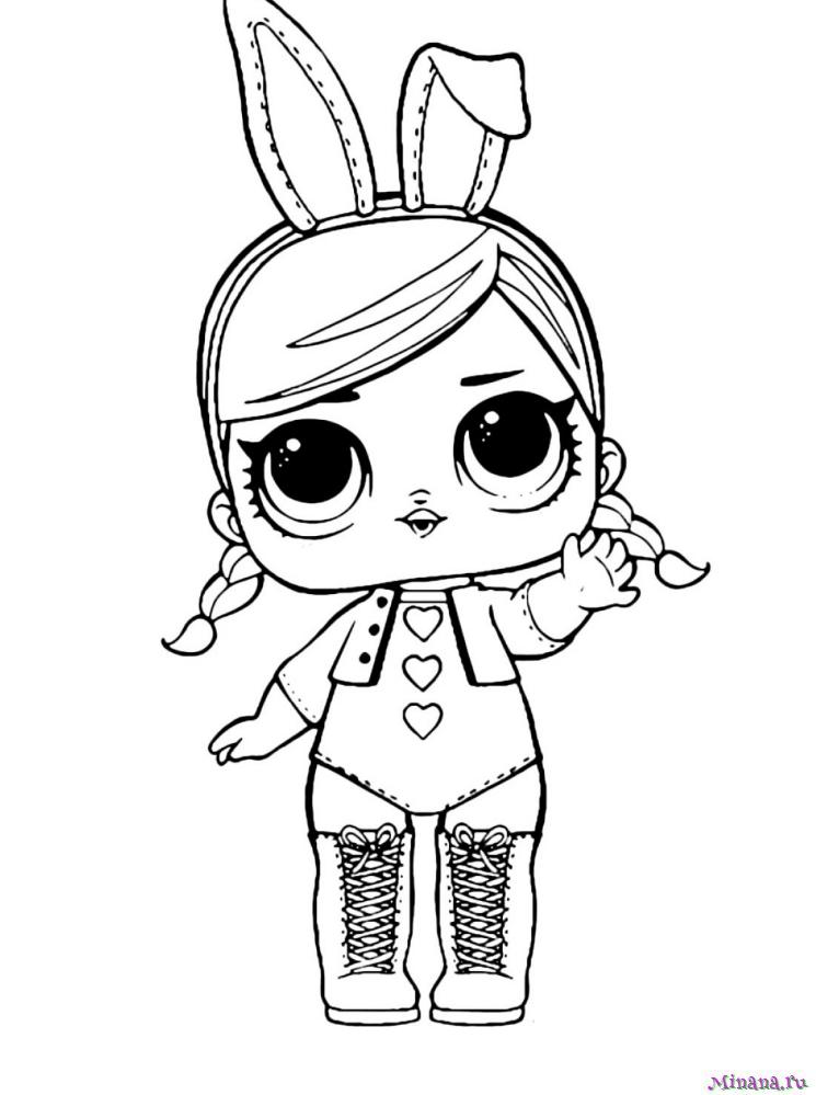 Раскраска кукла Хопс