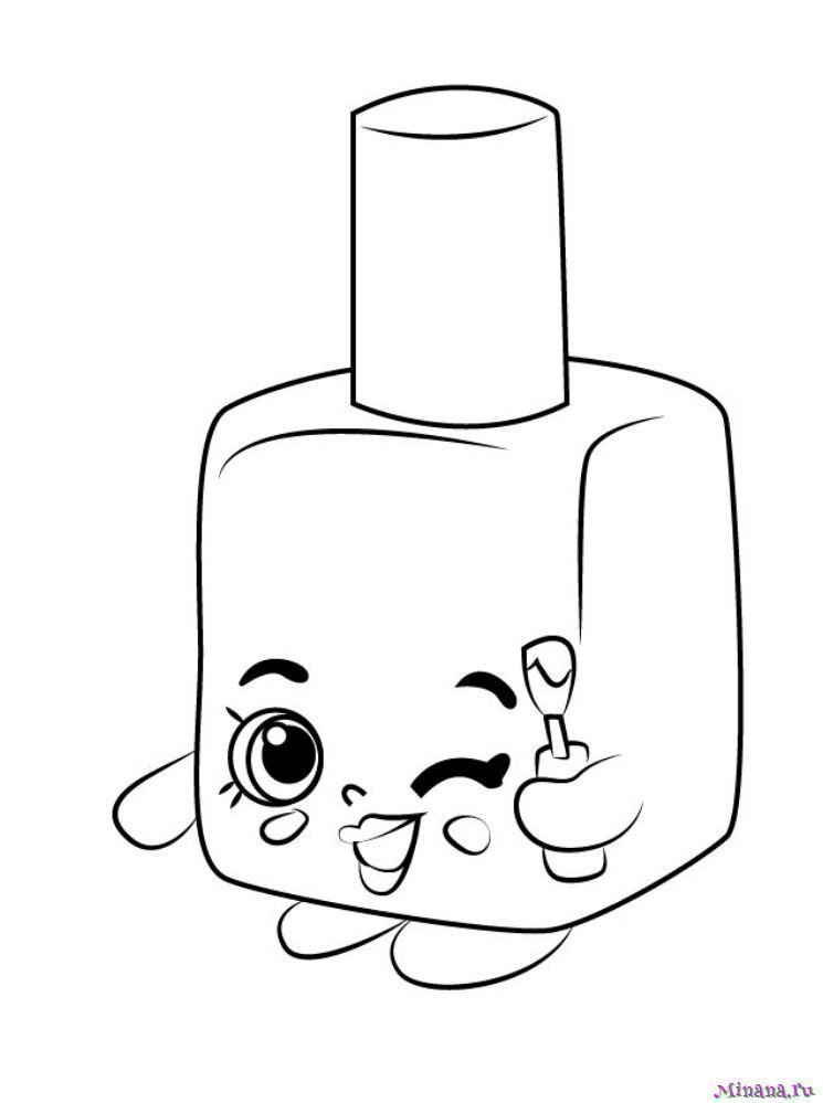 Раскраска лак для ногтей