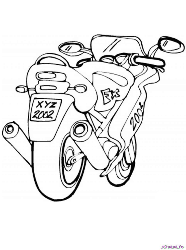 Раскраска мотоцикл 1