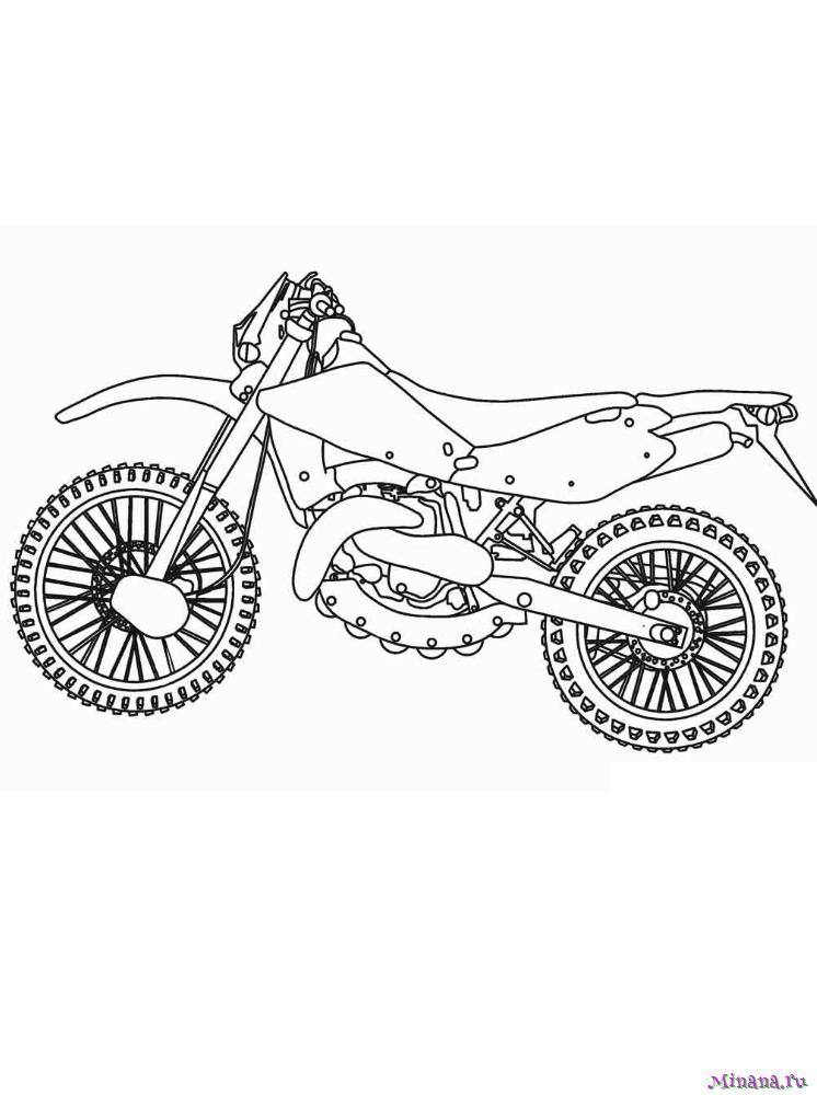 Раскраска мотоцикл 10