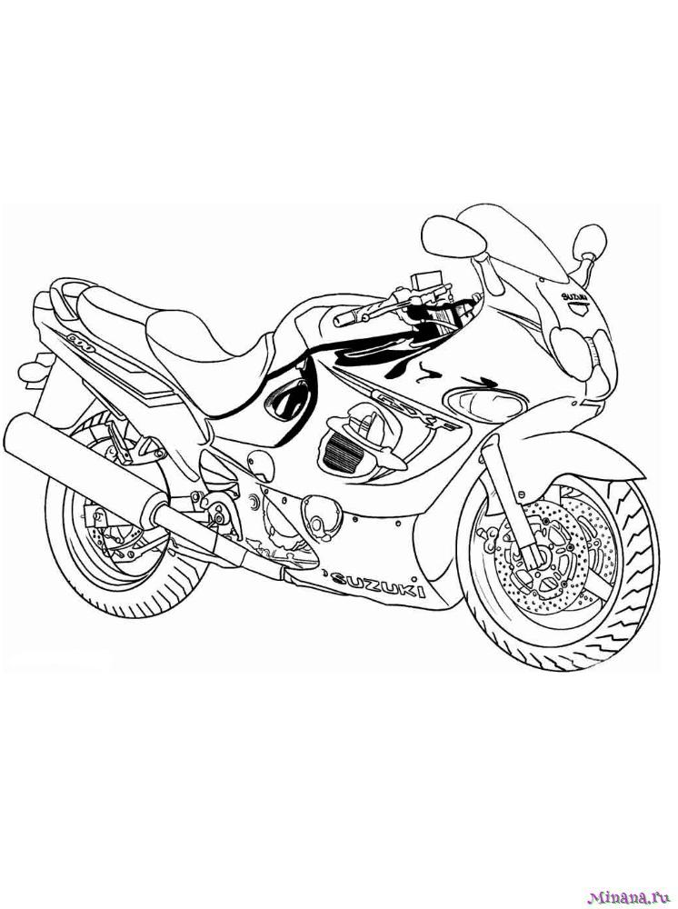 Раскраска мотоцикл 2