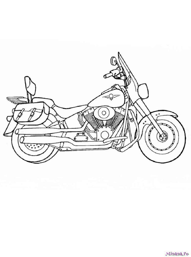 Раскраска мотоцикл 3
