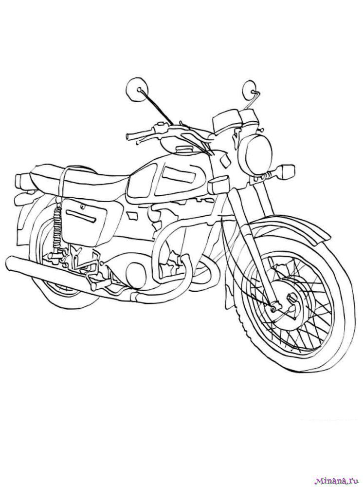 Раскраска мотоцикл 4