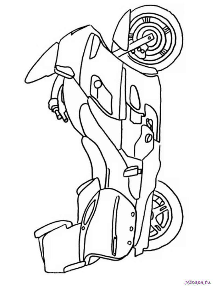 Раскраска мотоцикл 6