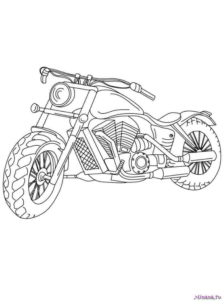 Раскраска мотоцикл 8