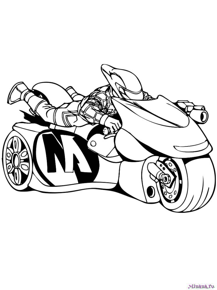 Раскраска мотоцикл 9