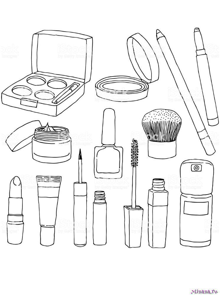 Раскраска нобор косметики