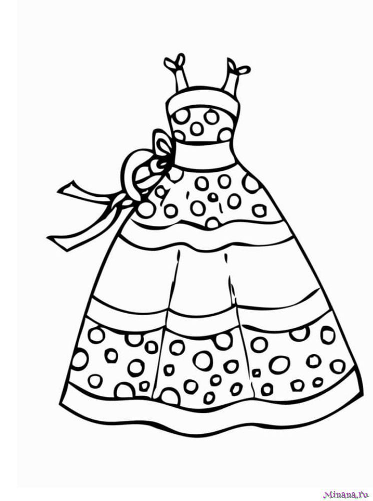 Раскраска платья 7 | Minana.ru