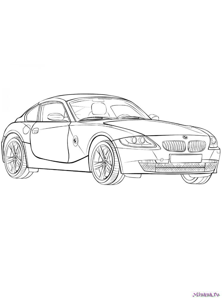 раскраски машины Minana Ru