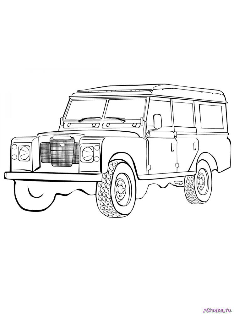 Раскраска Land Rover