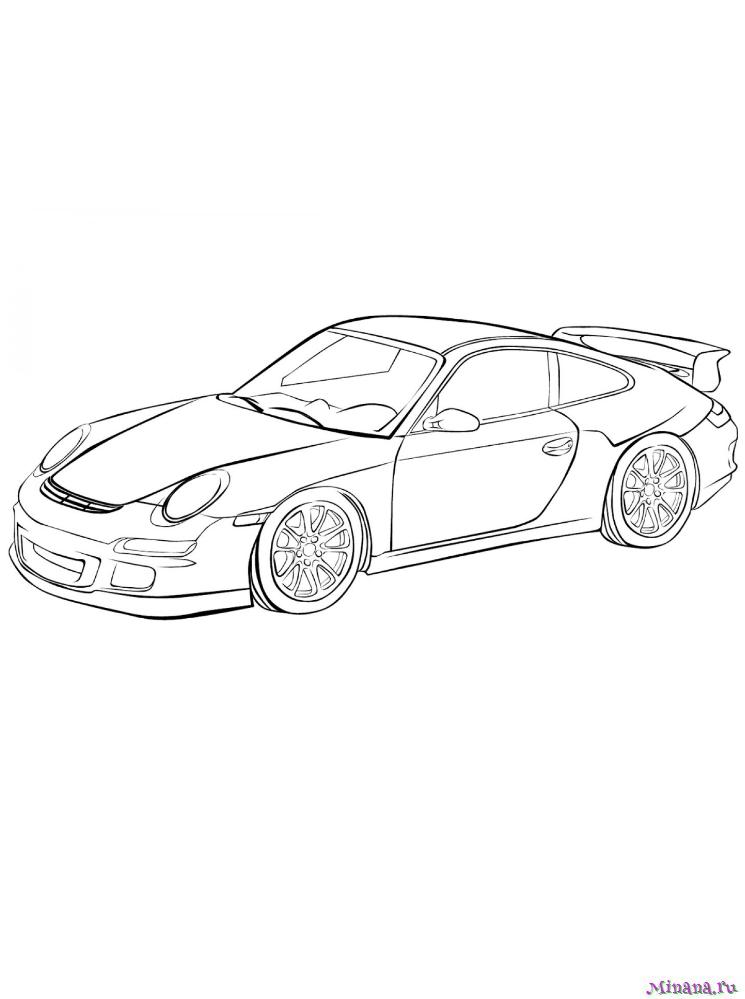 Раскраска Porsche