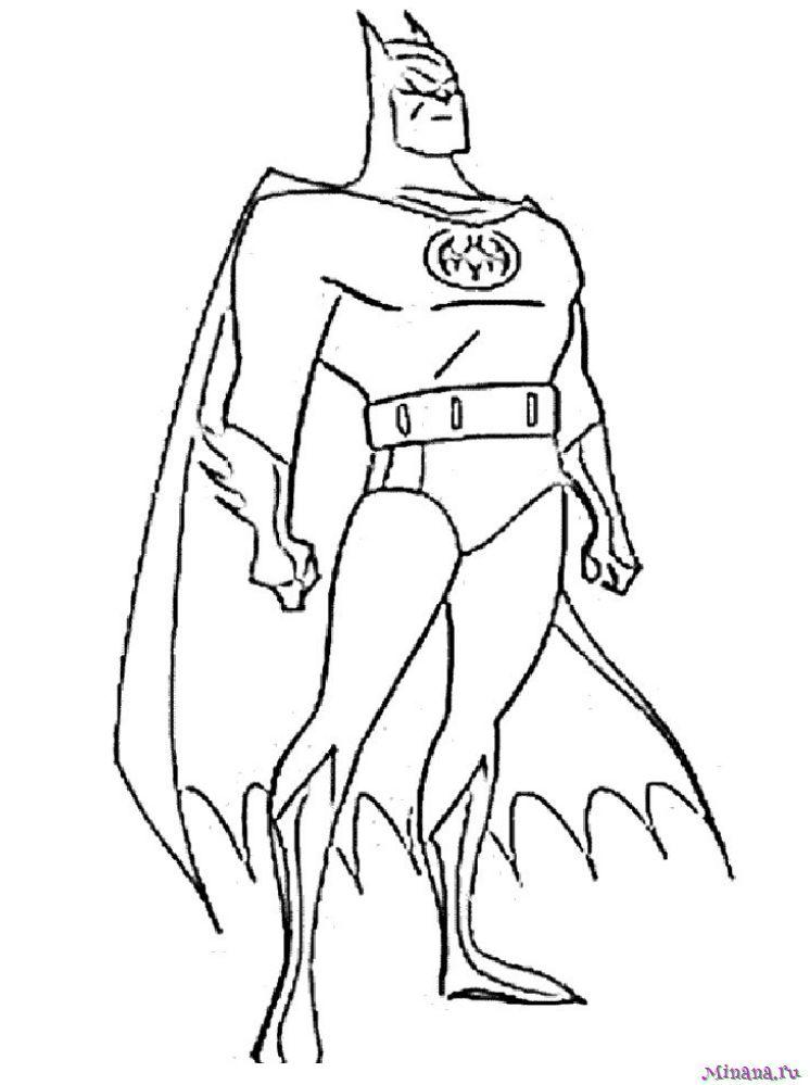 Раскраска Бэтмен 14