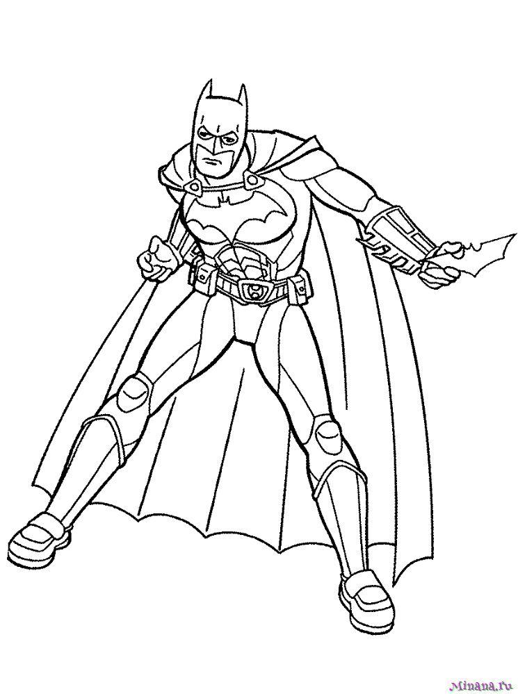Раскраска Бэтмен 19