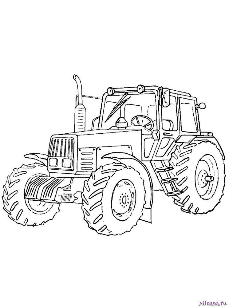 Раскраска Трактор 1
