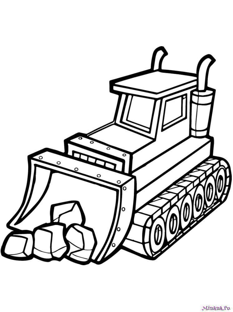 Раскраска Трактор 10