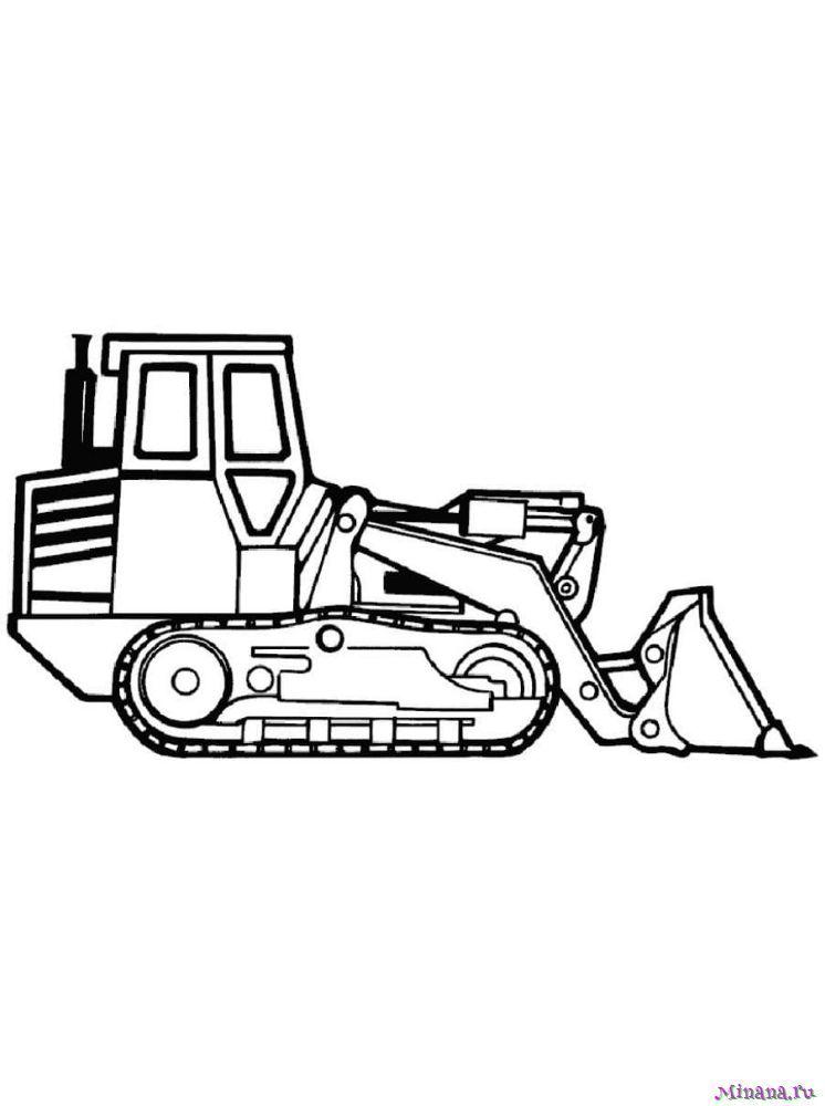 Раскраска Трактор 11