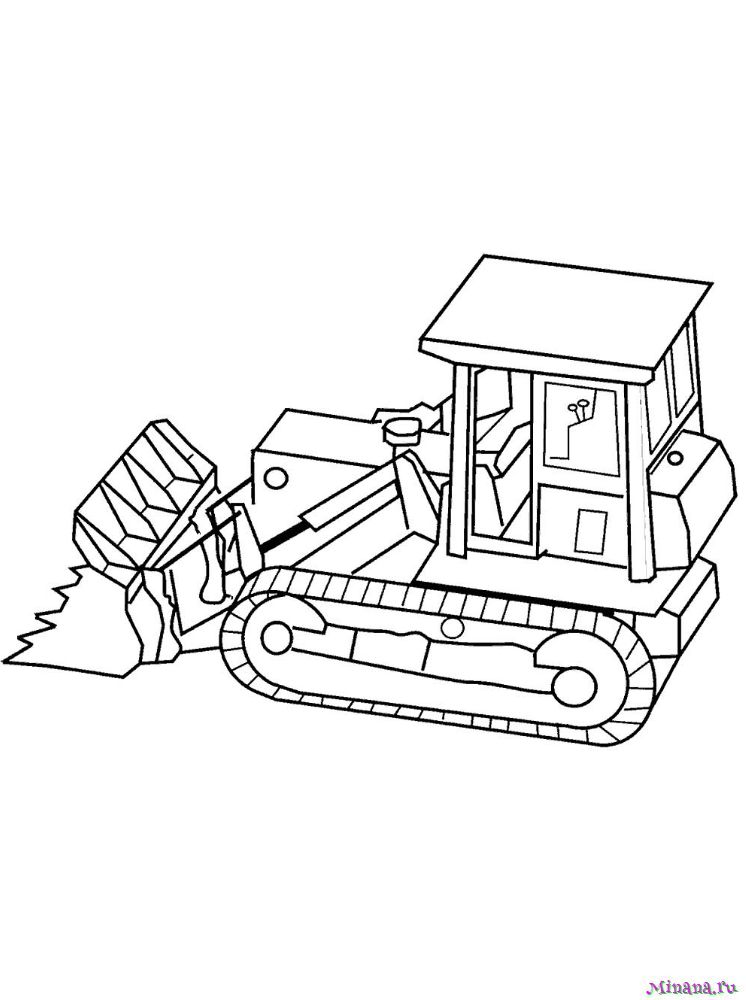 Раскраска Трактор 12 | Minana.ru