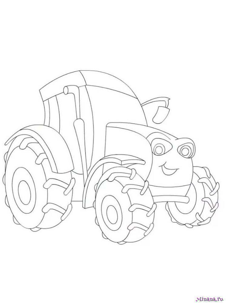 Раскраска Трактор 14
