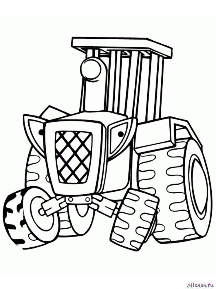 Раскраска Трактор 15 | Minana.ru