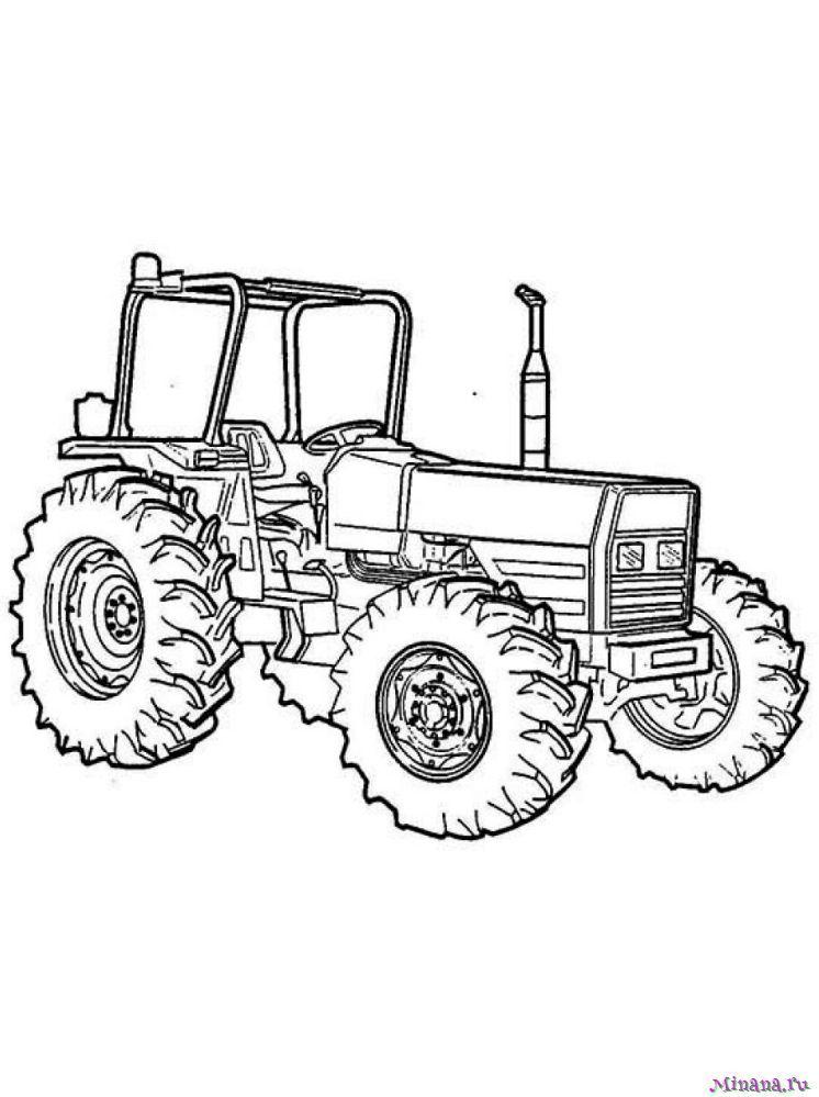Раскраска Трактор 16
