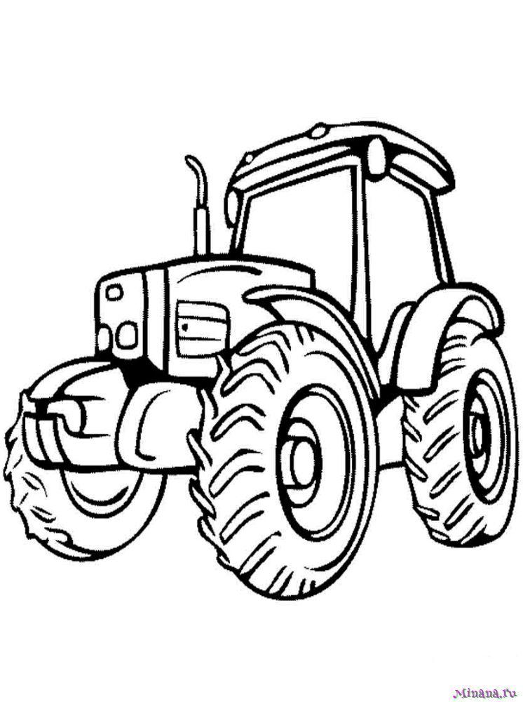 Раскраска Трактор 17