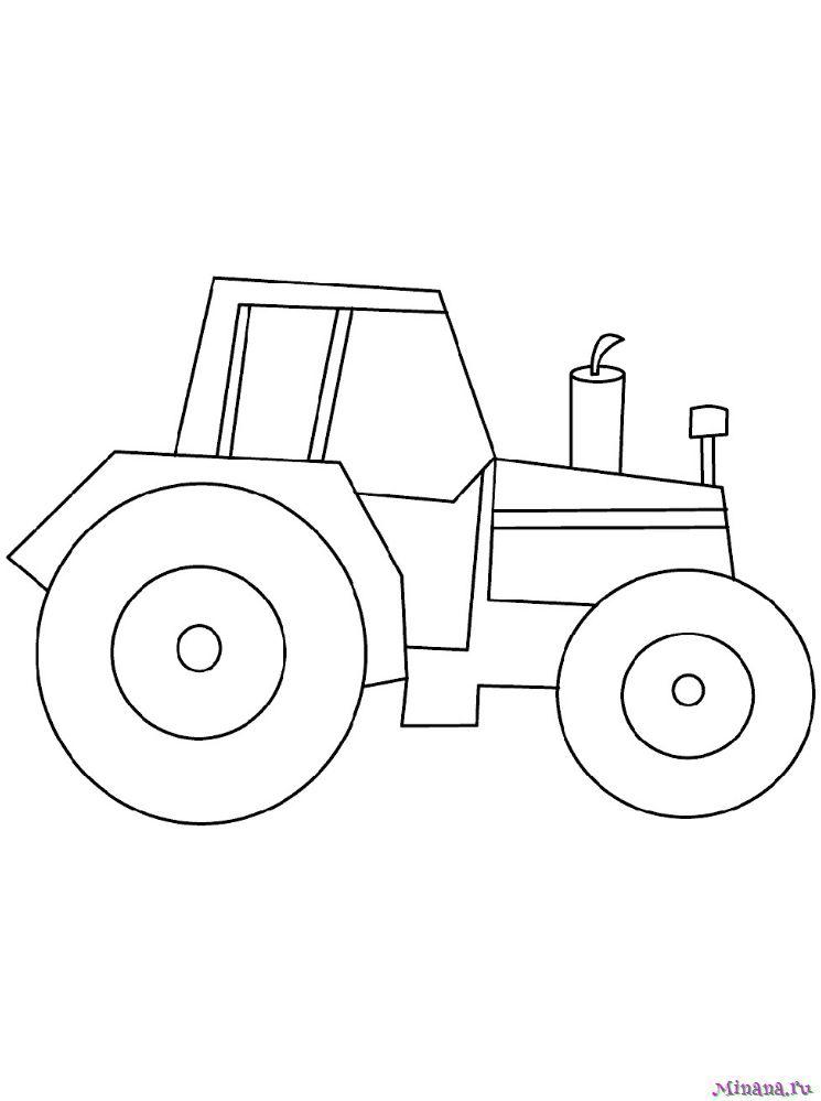 Раскраска Трактор 18